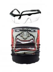 Maske Joker Buff Çok Amaçlı Boyunluk + Ayarlanabilir Koruyucu Gözlük