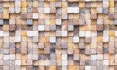 Elemantel 42002 1 3d Çok Renkli Küp Taş Desen