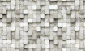 Elemantel 42002 2 Gri Beyaz 3d Küp Taş