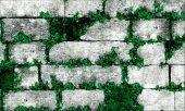 Elemantel 42005 1 Yeşil Çiçekli Gri Taş Duvar Kağıdı