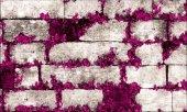 Elemantel 42005 3 Mor Çiçekli Gri Taş Duvar...