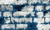 Elemantel 42005 4 Mavi Çiçekli Gri Taş Duvar Kağıdı