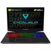 Excalibur G900.1075 Ad70x Intel 10.nesil İ7 10750h 12gb Ram 240gb Ssd 8gb Rtx2070 Dos