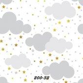 Stars And Points 200 33 Bulut Desen Çocuk Odası...