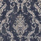 Retro 5001-01 Klasik Damask Desenli Duvar Kağıdı
