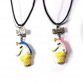 Best Friends Unicorn Dondurma Kolye