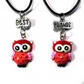Best Friends Kırmızı Baykuş Kolye
