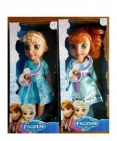 Frozen Elsa Anna Işıklı Müzikli 25 Cm Et Bebek