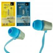 Powermaster EV-118 Mikrofonlu Yassı Kulak İçi Kulaklık ( Mavi, Yeşil, Beyaz, Sarı, Siyah )