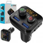 S Link Sl Bt234 Bluetooth 5.0 32gb Led Ekran Usb Bt Tf Çift Usb 3.4a Fm Transmitter