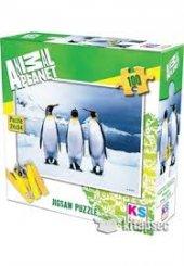 Ks Puzzle 100 Parça Penguins