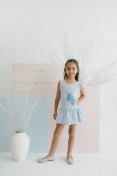 Frozen Kız Çocuk Elbise 15619