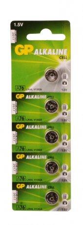 Gp Gpa76 C5 Lr44 Alkalin Düğme Pil 5li Paket