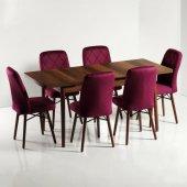 Zümrüt 6 Kişilik Açılır Ahşap Yemek Masa Sandalye Takımı