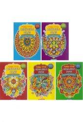 Mandala Boyama Kitabı 5 Li Ve Fatih Kuru Boya...
