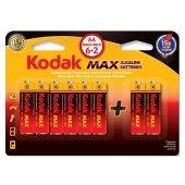 Kodak 6+2 Max Süper Alkalin Kalem Pil-AA