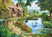 Ks Games Cottage By The Lake 1500 Parça Puzzle