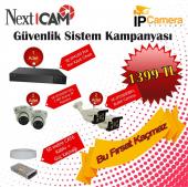 Nextcam 2 Mp 4 Adet İp Kamera Ve 4 Kanal Poe Nvr Kayıt Cihazı Seti