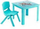 Lol Çocuk Masa Sandalye Takımı Mavi H40 1 3 Yaş İçin