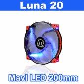 Thermaltake 20cm Luna 20 Cl F024 Pl20bu A Kırmızı Siyah Led Kasa Fanı