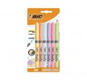 Bıc Fosforlu Grip Pastel Renkler 6 Lı