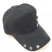 İskelet Ve Yıldız Süslemeli Gri-Siyah Bayan Şapka-2