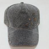 İskelet Ve Yıldız Süslemeli Gri-Siyah Bayan Şapka-4