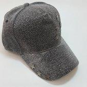 İskelet Ve Yıldız Süslemeli Gri-Siyah Bayan Şapka-5