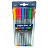 Pensan Triball 8 Renk Tükenmez Kalem 1.0mm