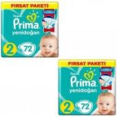 Prima Bebek Bezi 2 Beden Numara Mini 4 8 Kg 72 Li 2 Paket 144 Adet