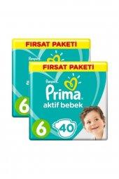 Prima Aktif Bebek Bezi Fırsat Paketi 6 Beden 13 18 Kg 80 Adet