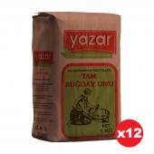 Yazar Taş Değirmende Öğütülmüş Tam Buğday Unu 1 kg x 12 Paket