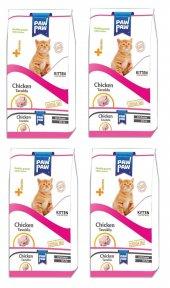 Paw Paw Kitten Tavuklu Yavru Kedi Maması 1 Kg X 4 Adet