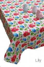 Trend Duck Kumaş Dertsiz Masa Örtüsü 150cm X 220cm Lily