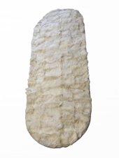 Beyaz Renk Toskana Doğal Kuzu Kürk Halı