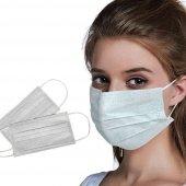 5 Adet Ce Ve Iso 13485 Sertıfıkalı Ultrasonık Burun Telli, 3 Katlı Dmk Maske