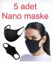 5 Adet Nano Yıkanabilir Kumaş Ağız Yüz Koruyucu...