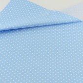 Poplin Kumaş Mavi Puantiyeli (50x80)