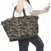 My Valice Smart Bag 1301 Usb Şarj Girişli Kadın Omuz Çantası Siyah