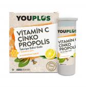Youplus Vitamin C Çinko Propolis 20 Efervesan...