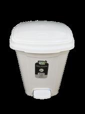 Polytime 22 Litre Beyaz Pedallı Basmalı Çöp Kutusu Kovası