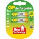 Gp Aa 2100 Mah Şarjlı Kalem Pil 2li Paket Gp210aahchp 2uc2
