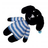 Köpek Oyuncağı Mavi Kazaklı Siyah Köpek 13 Cm...