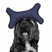 Kemik Şekilli Köpek Oyuncağı 9 23 Cm Lacivert...
