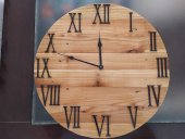 Masif Ahşap Duvar Saati 50 Cm Ücretsiz Kargo