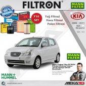 Kia Picanto 1.0 1.1 3 Lü Mann Filtron Filtre Seti 2004 2011
