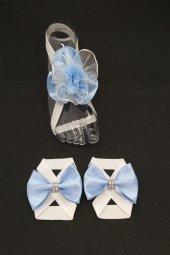MelKady 033- Anne Erkek Bebek Sandalet Set, Lohusa Bilekliği ve Saç Bandı Seti-2