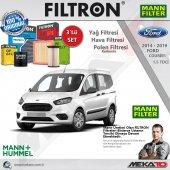 Ford Courier 1.5 Tdcı 3 Lü Mann Filtron Karbonlu Filtre Seti 2014 2019