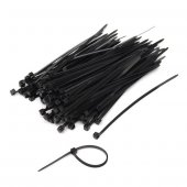 3,6x 300mm (30cm) Siyah Plastik Kablo Bağı 100...