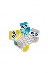 Renkli Çocuk Çorabı 3'lü Set